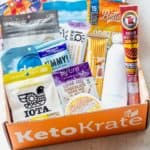 All of the items in the september 2020 keto krate displayed inside the box
