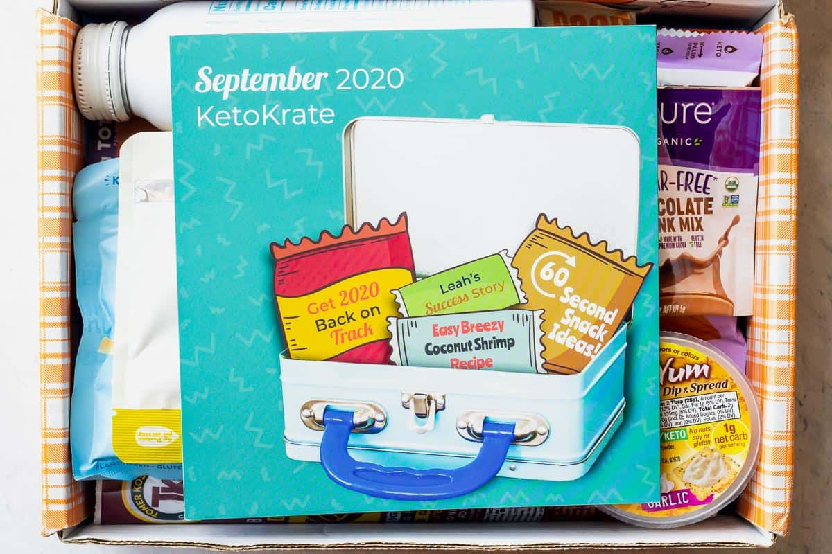 September 2020 Keto Krate with the pamphlet on top