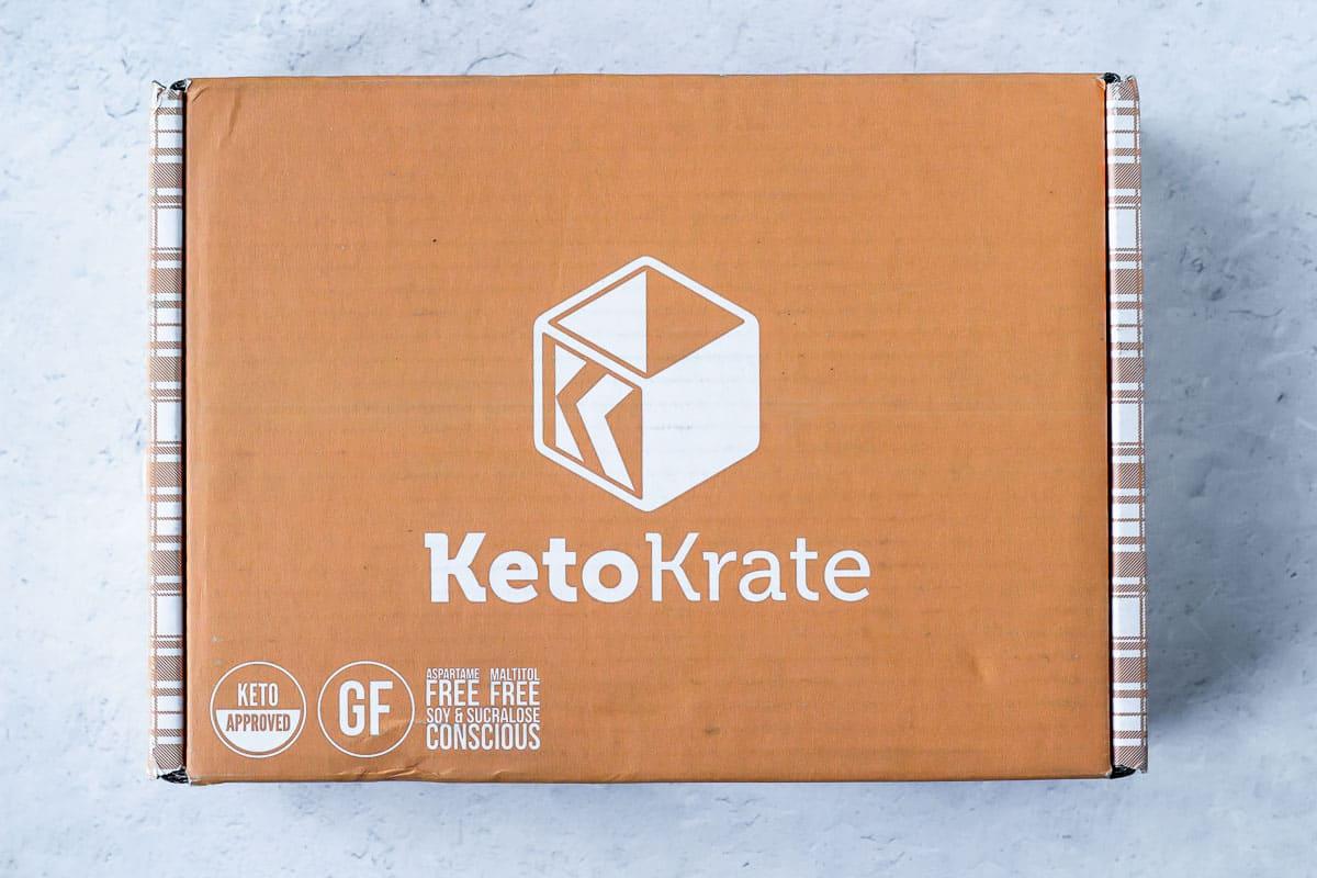 November 2020 keto krate box on a white background