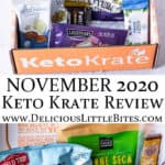 2 images of the November 2020 Keto Krate separated by text overlay