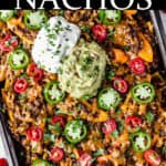 loaded bell pepper nachos with text overlay