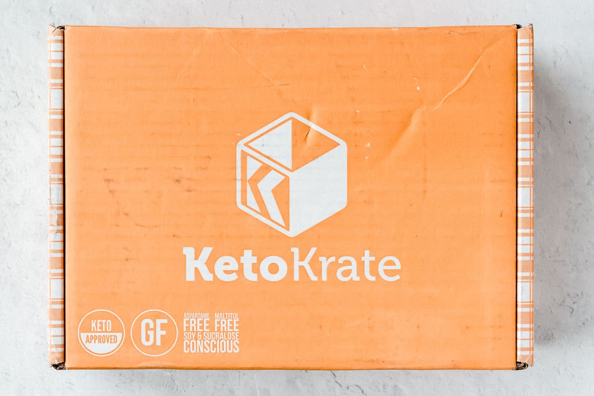 December 2020 Keto KRate Box on a white background