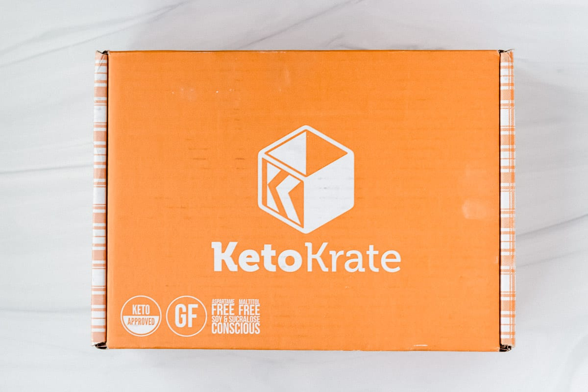 February 2021 Keto Krate box on a white background