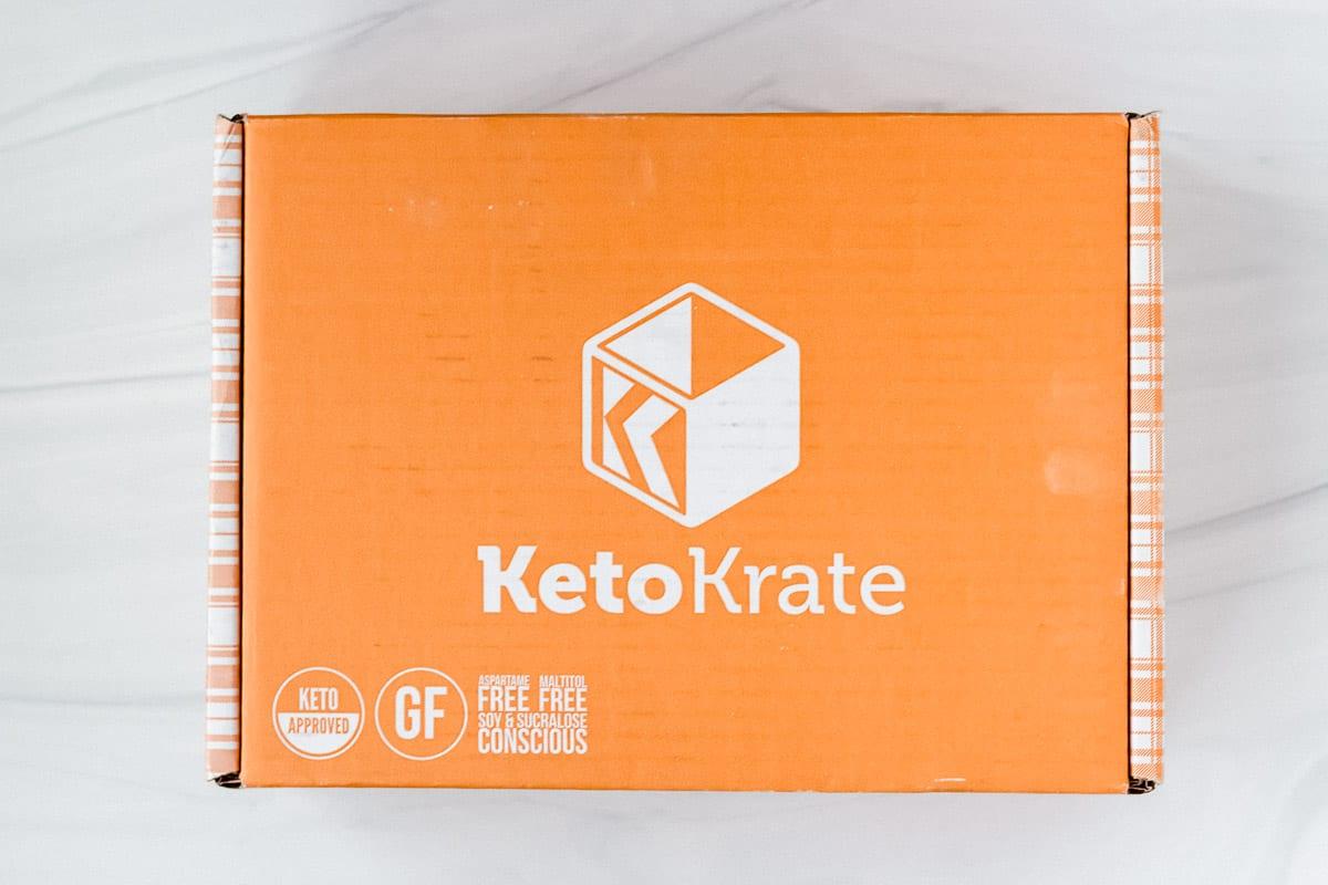 February 2021 Keto Krate box on a white background