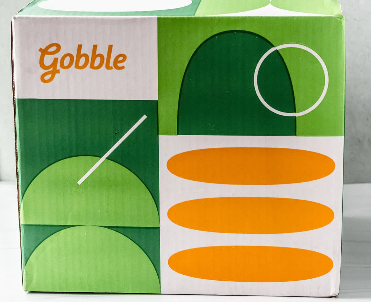Gobble box with a white background