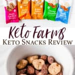 Keto Farms products with text overlay