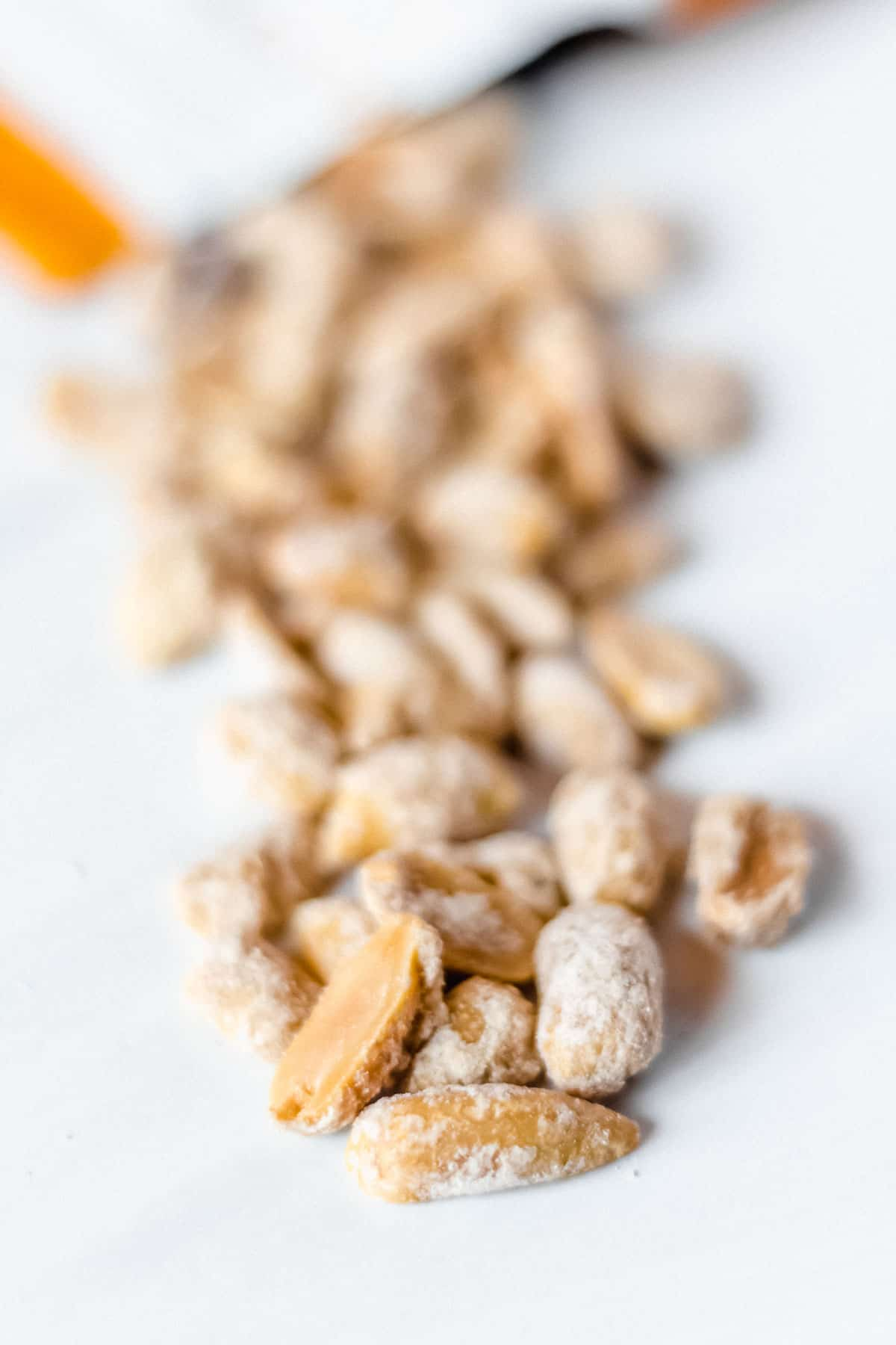 Keto Farms Butter Toffee Peanuts on a white background