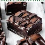 andes mint brownies with text overlay