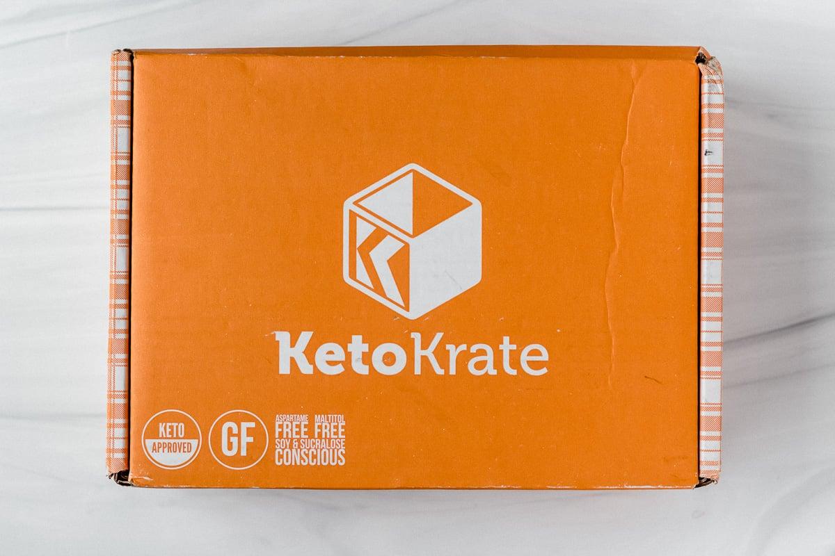 April 2021 keto krate box on a white backdrop