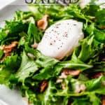 lyonnaise salad with text overlay