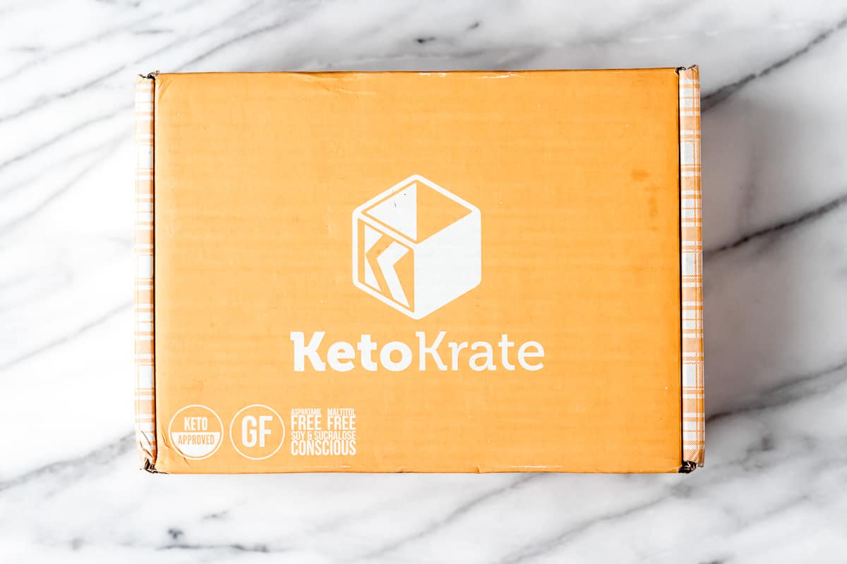 August 2021 Keto KRate box on a marble backgrou