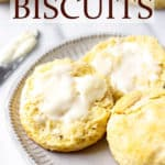 Biscuits with text overlay.