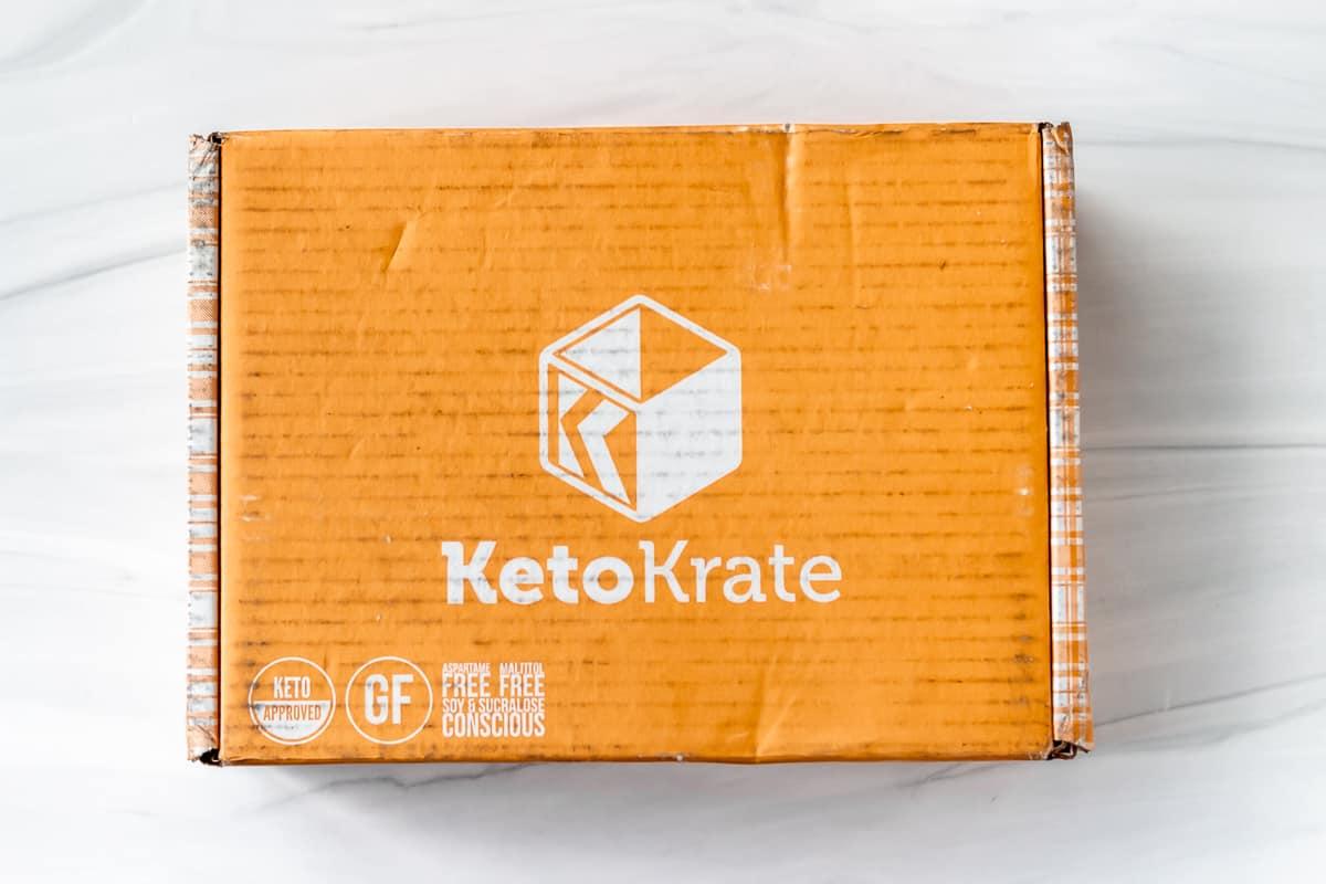 September 2021 Keto Krate box on a white background